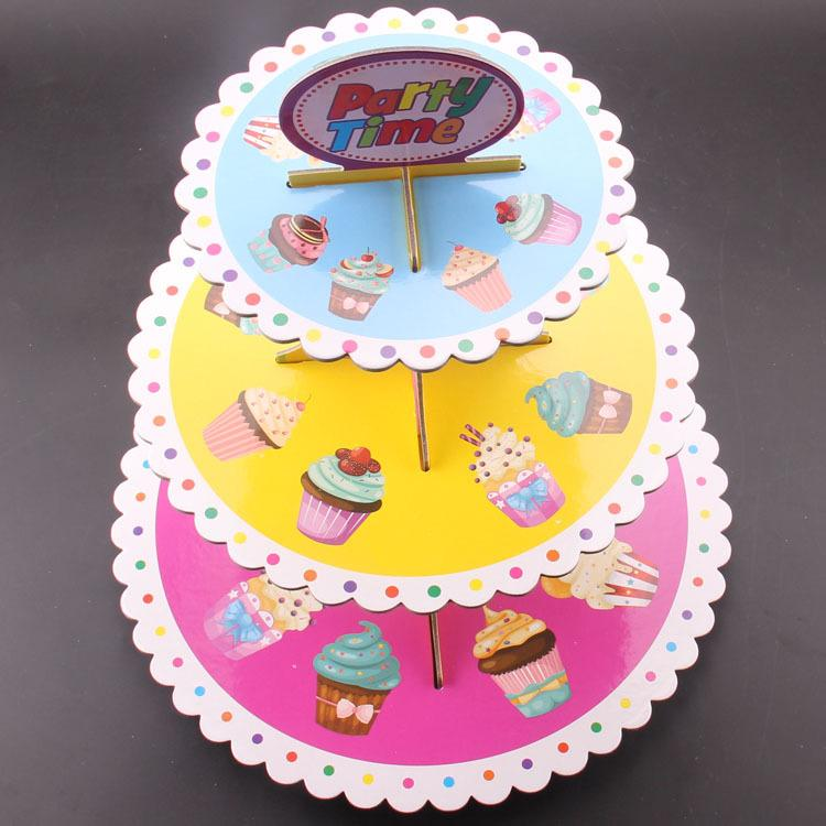 birthday party wedding 3 tier cupcake cake stand 35cm height cookie display tray party supplier muffin dessert decorator from elsalu dhgate