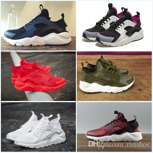 2018 New Design Air Huarache 4 IV Running Shoes For Women & Men Lightweight Huaraches  Sneakers Athletic Sport Outdoor Huarache Shoes 5.5-11 Running Shoes ...
