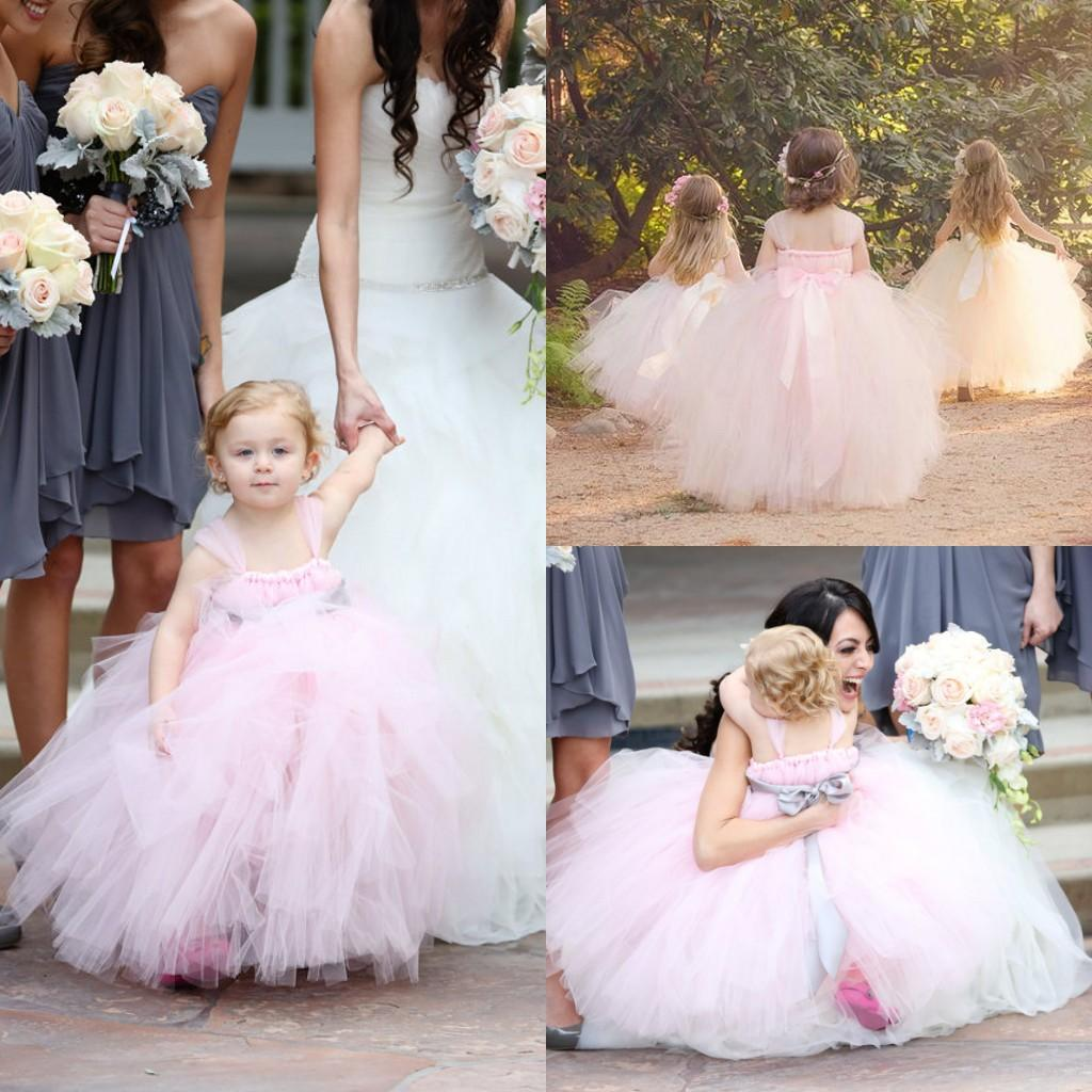 2015 fashion baby pink ball gown flower girls dresses tulle tutu see larger image dhlflorist Gallery