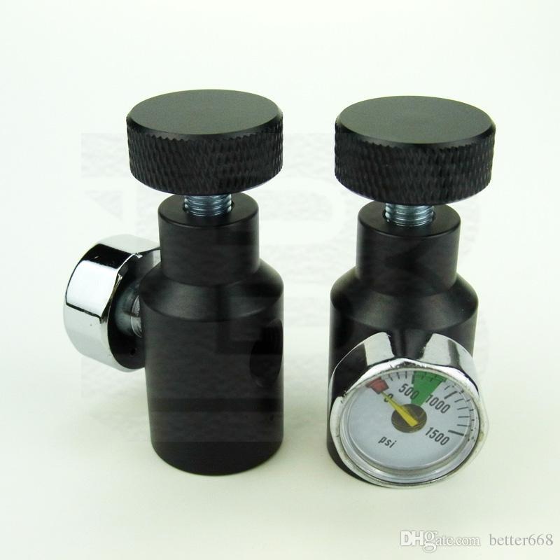 Nuevo Paintball Airsoft Air Gun PCP Control remoto de encendido / apagado ASA CO2 con indicador 1500PSI 1 / 8NPT-NEGRO