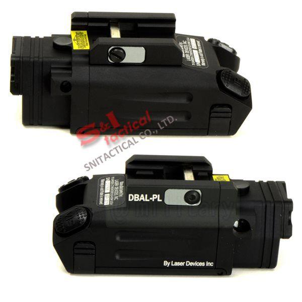 DBAL-PL 가시 레드 레이저 포인터 / 화이트 라이트 LED / IR 레이저 / IR LED 조명기 총 라이트 블랙