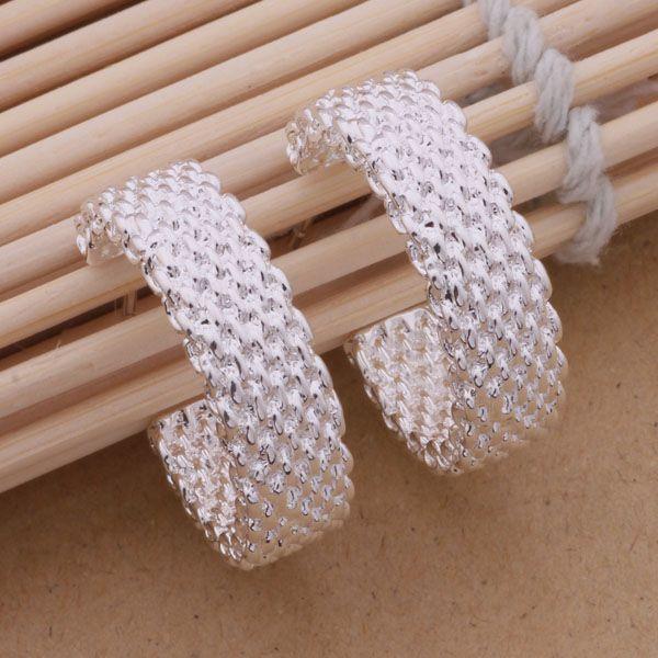 Мода производитель ювелирных изделий 40 шт. много Reticulocyte серьги стерлингового серебра 925 ювелирные изделия заводская цена мода блеск серьги