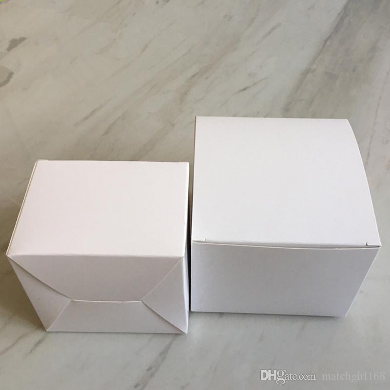 -8 * 8 * 4/5/6/7/8/9/10/11/12/13 cm 350gsm Caixa de Embalagem de Papel Branco Sabonetes Artesanais Cosméticos caixas de armazenamento de válvulas de tubos