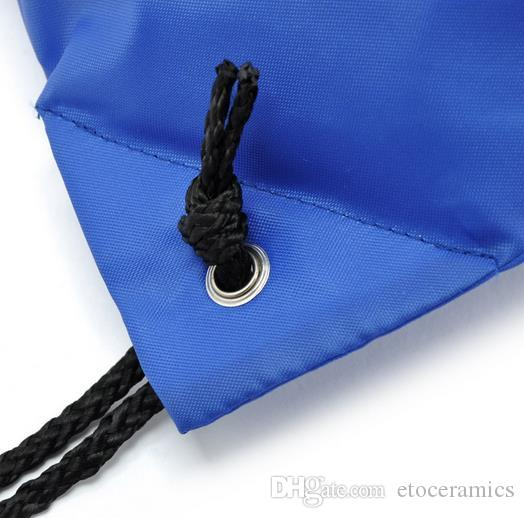2016 hotsale factory direct Waterproof Swim School Book Sport Solid Drawstring RuckSack Bag Sack Backpack