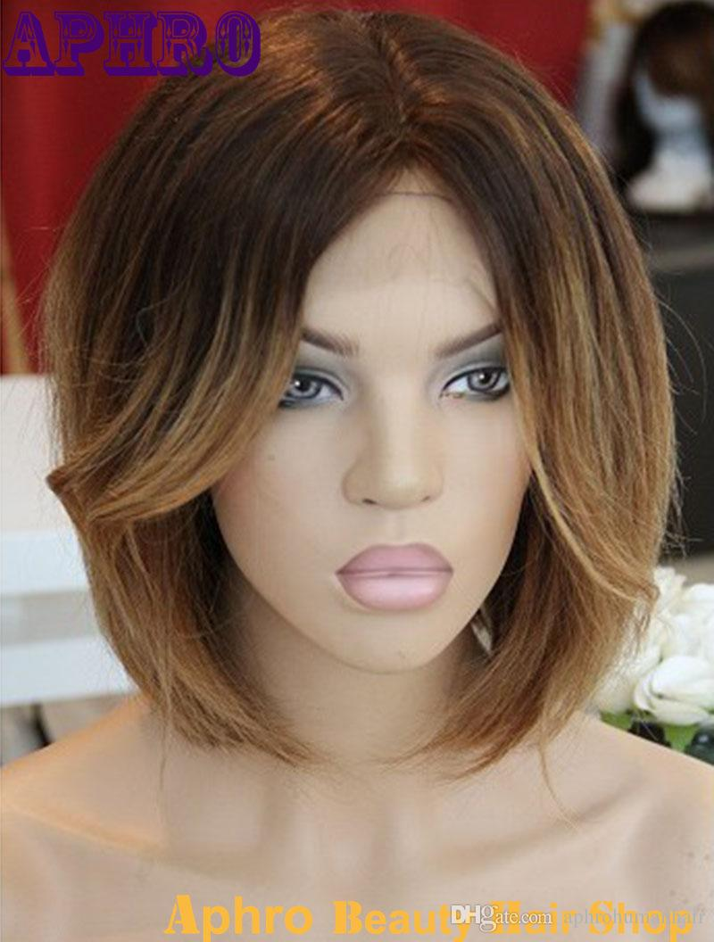 Brownblonde bob 100 percent human hair full lace silk top ombre cheap human hair for braid extensions best natural kinky human hair extensions pmusecretfo Images