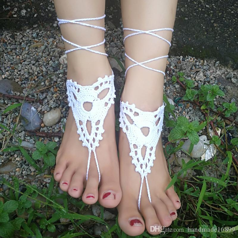 f81b61e63e56 OR Sandals Sandal Foot Jewelry Feet Accessory Beach Wedding Bridesmaid Foot  Thong Anklet Nude Shoes Yoga Shoes Heels Gladiator Sandals From  Handmade16899