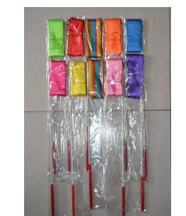 DHL mix color 4M Gym Dance Ribbon Rhythmic Art Gymnastic Streamer Baton Twirling Rod