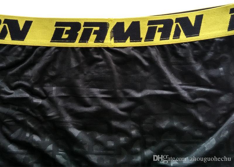 Padrão de bastão underwea masculino esportes hip hop rock excise cueca roupas de skate rua moda streched legging quick dry