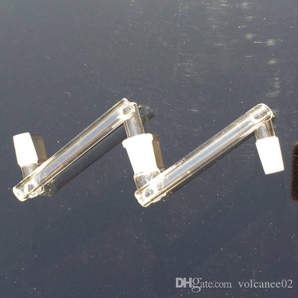 Adaptador de tigela para bong ou quartzo banger prego 18mm 14mm adaptador macho feminino com boca de moagem 14mm 18mm clear joint adaptador conversor de vidro