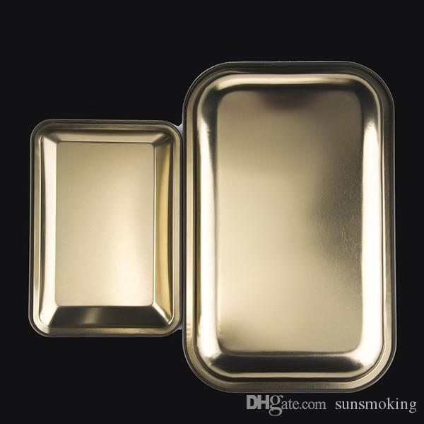 Rolling Trab Alle Sterne Tabletts KleinGröße 18cm * 12.5cm * 1.3cm 27cm * 17.5cm * 2.3cm Metall Tabak Messingplatte Herb Handroller
