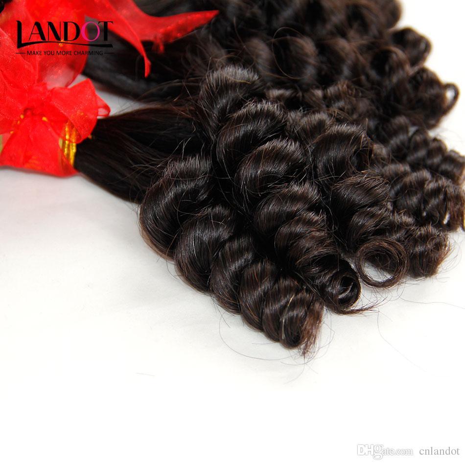 Тетя Funmi девственные человеческие волосы плетение надувной яйцо романтика кудри необработанные бразильский перуанский Индийский малайзийский камбоджийский наращивание волос ТОП 8А