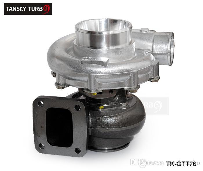 TANSKY - ضاغط الهواء التوربيني الشاحن التربيني T76 عالي الأداء A / R. 80 التوربينات الإسكان A / R.81 النفط 1000hp T4 V-Band Clamp تبريد المياه TK-GTT76