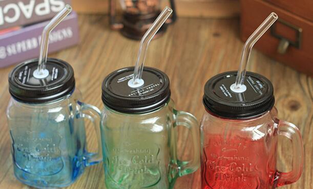 جديد وصول Sefety فرشاة الزجاج القش المقاوم للحرارة ماصة الزجاج البورسليكات عالية