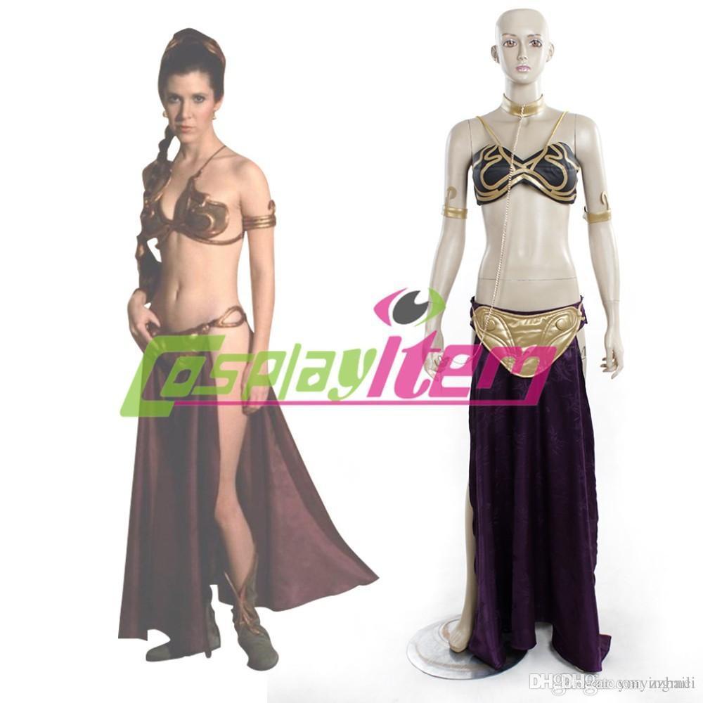 Cheap Customized Movie Women Star Wars Slave Princess Leia Costume ...