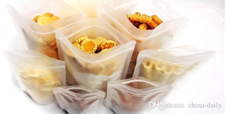 Ücretsiz EMS DHL Adil fiyat 200 adet / grup 20 cm * 30 cm zip kilit stand up Mühür Stand Up Donuk Lehçe Çanta Kendinden Mühürlü Gıda Toz Çanta