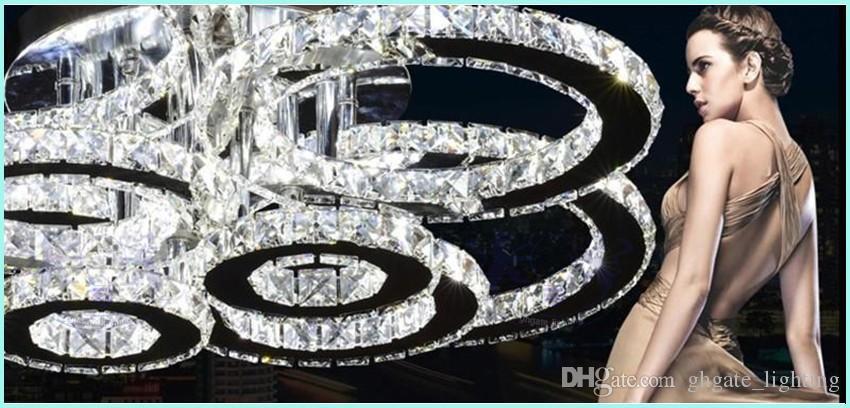 K9 Avizeler Oturma Odası K9 Kristal Tavan Işık Yuvarlak LED Avize 1 2 4 6 8 Kafaları Yemek Odası Restoran Avizeler
