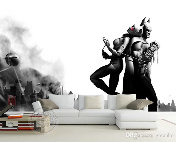 Batman U0026 Catwoman Wall Mural Black U0026 White Photo Wallpaper Vintage  Wallpaper Painting Large Wall Art Room Decor Bedroom Sofa Background Wall  Free Download ... Part 55