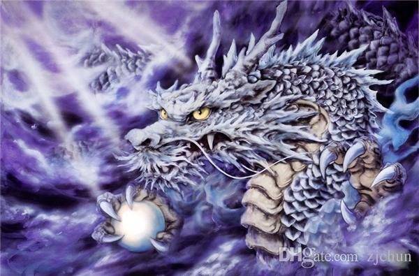 5D Diamond Embroidery needlework diy Diamond painting Cross Stitch Kits animal dragon totem full round diamond mosaic Room Decor yx1366