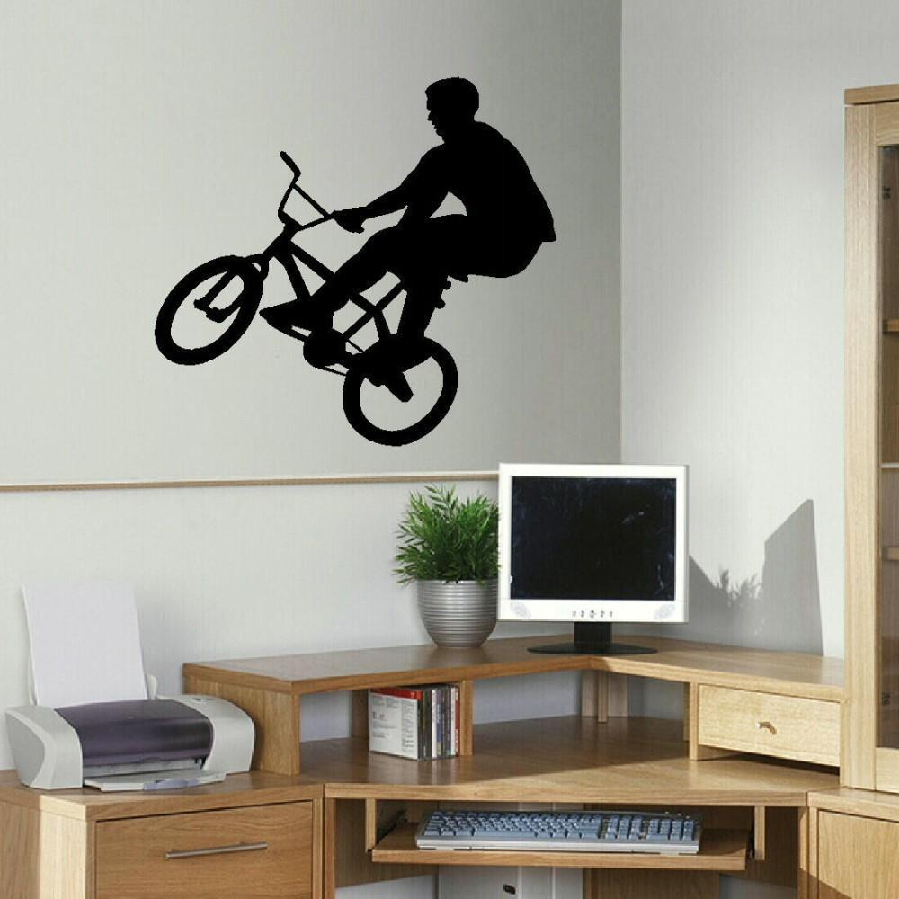 LARGE BMX CHILDREN BEDROOM WALL MURAL TRANSFER ART POSTER STENCIL STICKER DECAL WALL STICKERS for KIDS ROOM Size 55*60CM