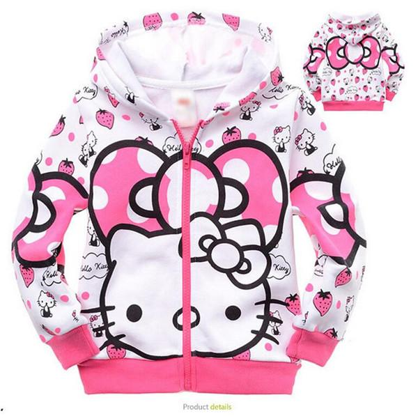 Baby Girl Terry Hooded Coat Hello Kitty Jacket Outerwear Padded ...