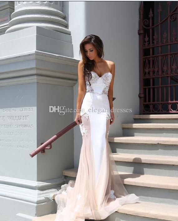 2021 vestido de moda de la sirena vestidos de baile del cordón del amor de superposición Alineado por completo Trimed tribunal tren vestidos de noche vestido formal del partido de la celebridad
