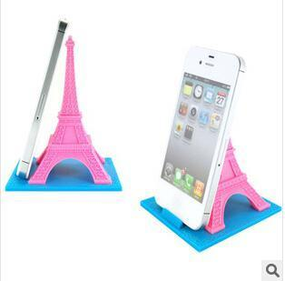 2018 Novelty Eiffel Tower Smart Phone Stand Silicone Phone
