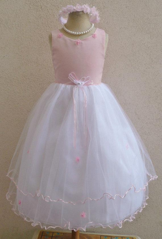 a051636e0f Flower Girl Dresses - PINK LIGHT (FD0RT) - Wedding Easter Junior Bridesmaid  - For Children Toddler Kids Teen Girls
