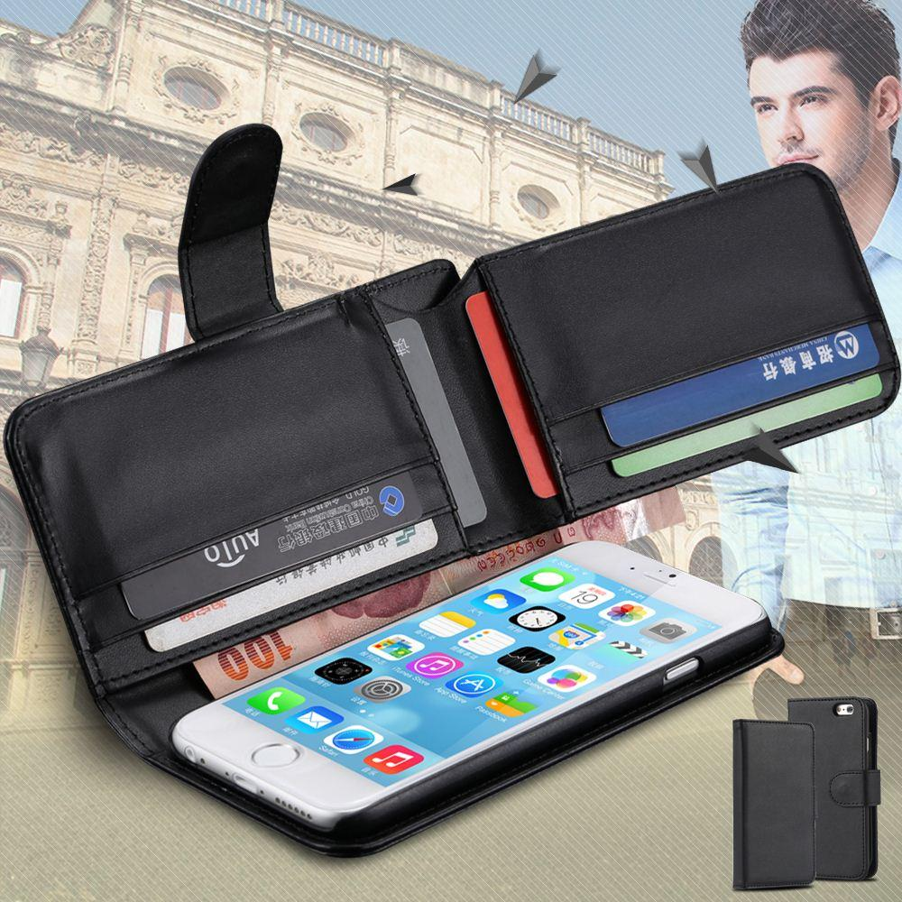 Retro Business Men Fold Wallet Pu Leather Case For Iphone 6 Plus 5.5 ...