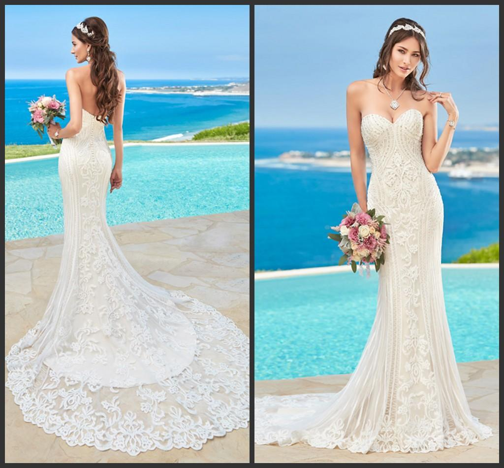 Mermaid Ivory Wedding Dresses Kitty Chen 2016 Sweetheart Neckline ...