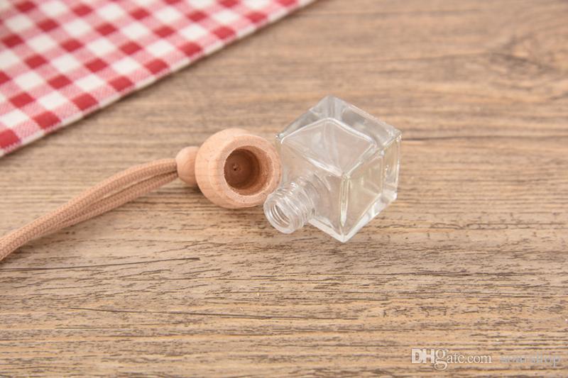 MIX DESIGN Mini Portable Refillable Perfume Bottles Scent Bottle Empty Glass Essential Oil Carry Bottle Car Pendant Gift