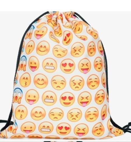 Women s Daypacks Printing Emoji Backpack for Travel Mochila Feminina ... 46151cb1370eb