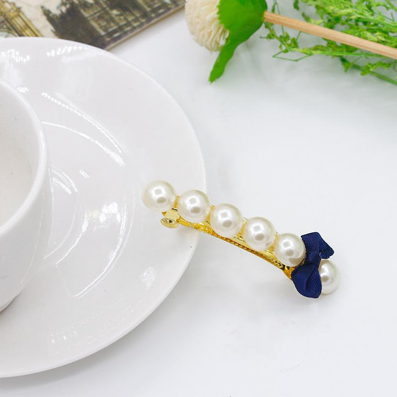 Sweet Bowknot Hairpin Pearl Cute Homer Women Girl Hair Clip Bride Wedding Jewelry Accessories Holiday Gift