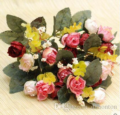 european style rose silk rose flower home room decoration good quality cheap price hot sell