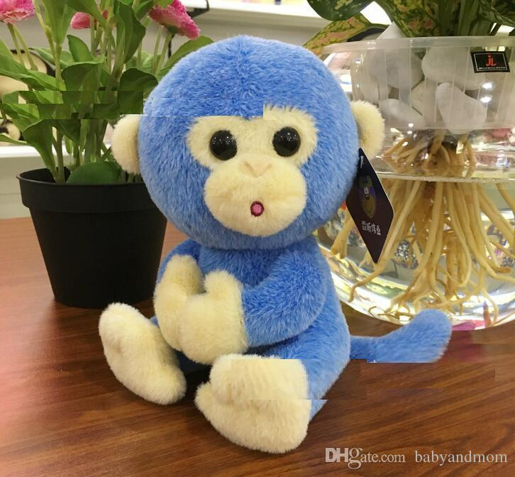 Lovely Genius Monkey Stuffed Animal Toy with Big Eyes Kids Gift for Festival Birthday Party 18cm