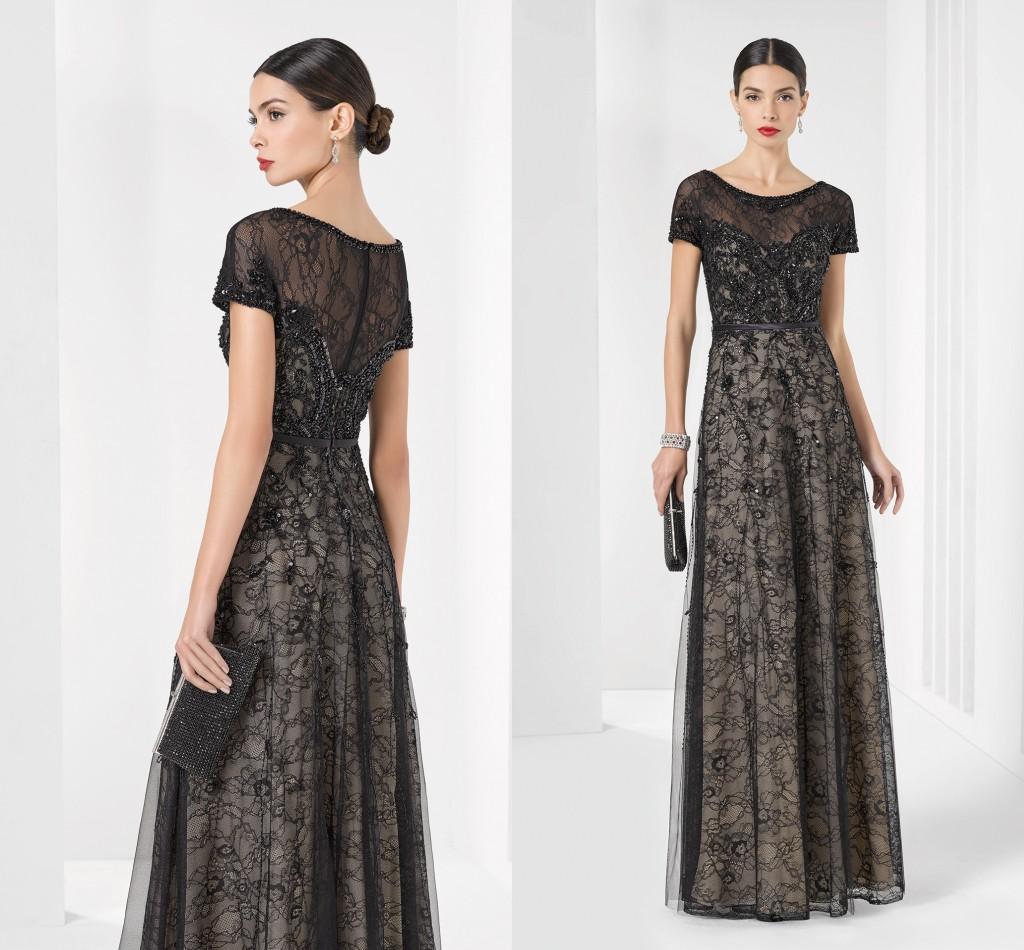 Elegant Mother Of Bride Groom Dresses 2016 Black Short