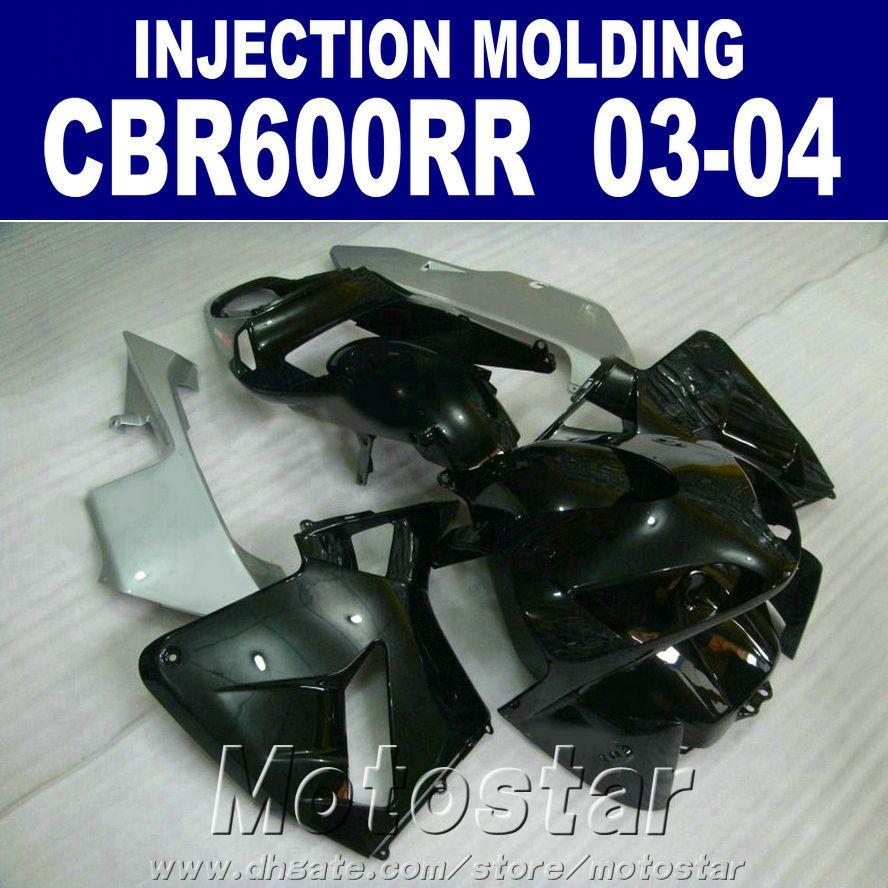 İyi! 100% HONDA CBR 600RR için Enjeksiyon Kalıplama kaporta 2003 2004 siyah cbr600rr 03 04 vücut onarım parçaları + 7 Gifts yAWA