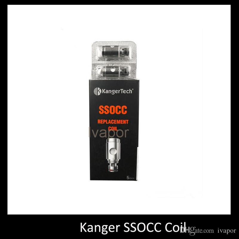 100% Autnentic Kanger SSOCC Coils 0.5ohm 1.2ohm Ni200 0.15ohm Replace Coil Head For Kanger Nebox Kit Subvod Kit