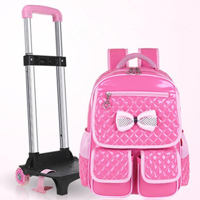 d7e03dd922 2015 New Male Girl Towbar School Bag Trolley Luggage Travel Backpack  Sliding School Bag Belt Wheels School Bag Kids Backpack Cheap Bags From  Haiyangsujing