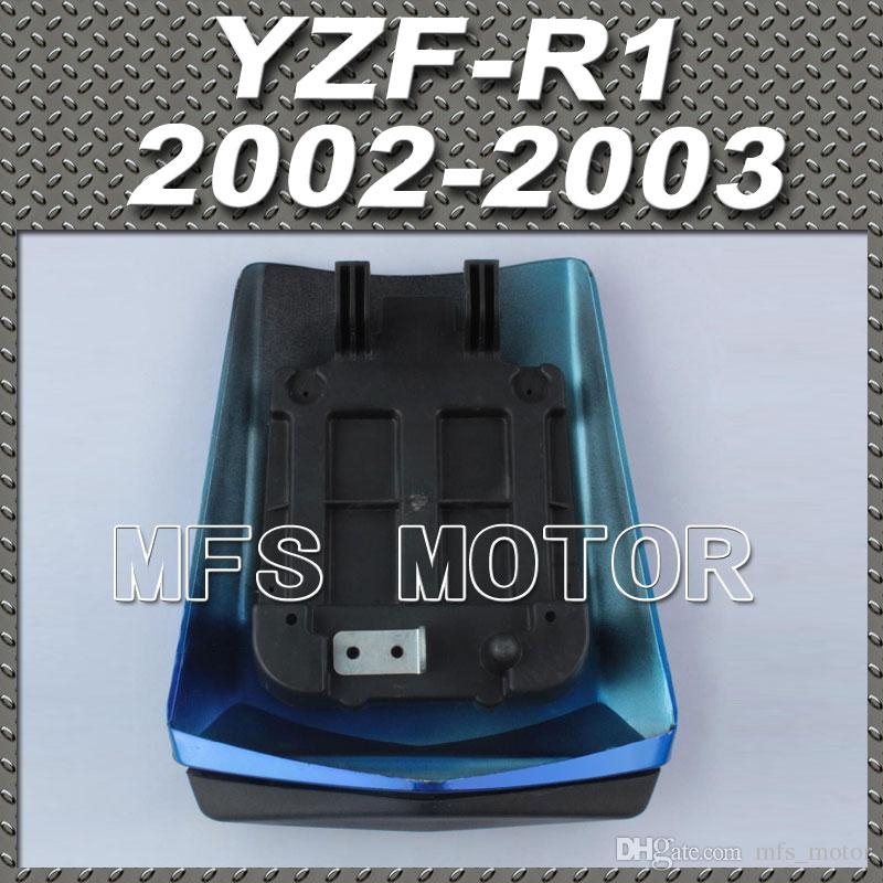 Para YZF-R1 Motorcycle Pillion Rear All Blue Injection ABS Cubierta de asiento Cover para Yamaha YZF-R1 2002-2003