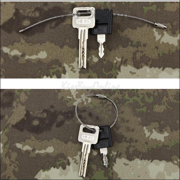Moda quente de aço inoxidável fio keychain chaveiro cabo para caminhadas ao ar livre
