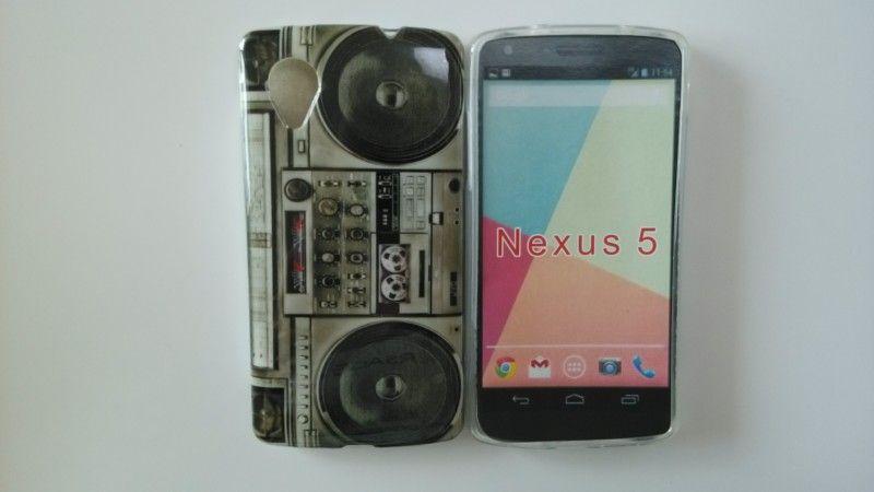 1 stycke Retro Radio Flower Case för Google LG Nexus 5 Silicon Radio Mobiltelefonfodral Gratis frakt