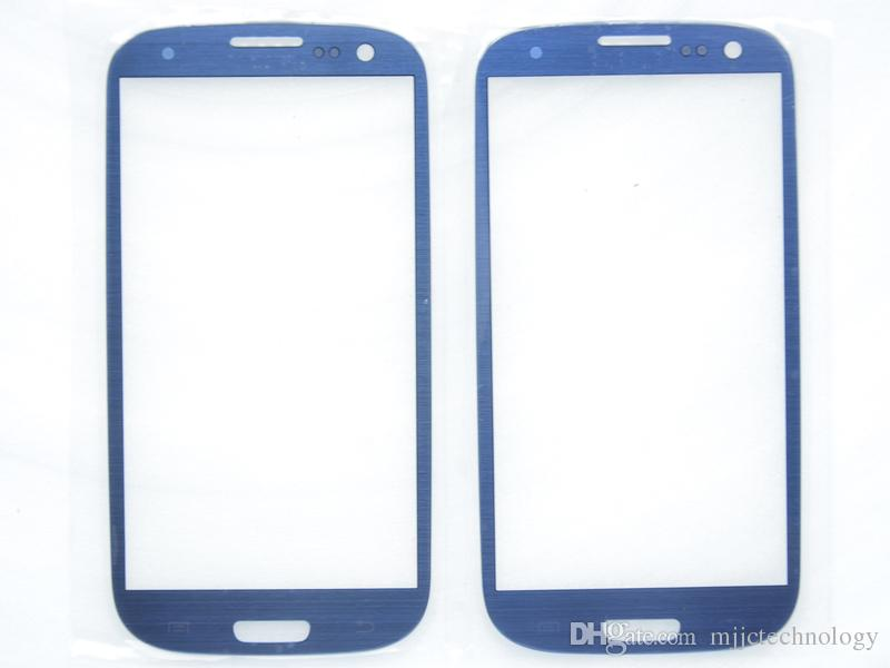 i9300 Pebble Blue Lens Glass Replacement for Samsung Galaxy S3 i9305 LCD Touch Screen Front Glass With Free Tool Kits Adhesive
