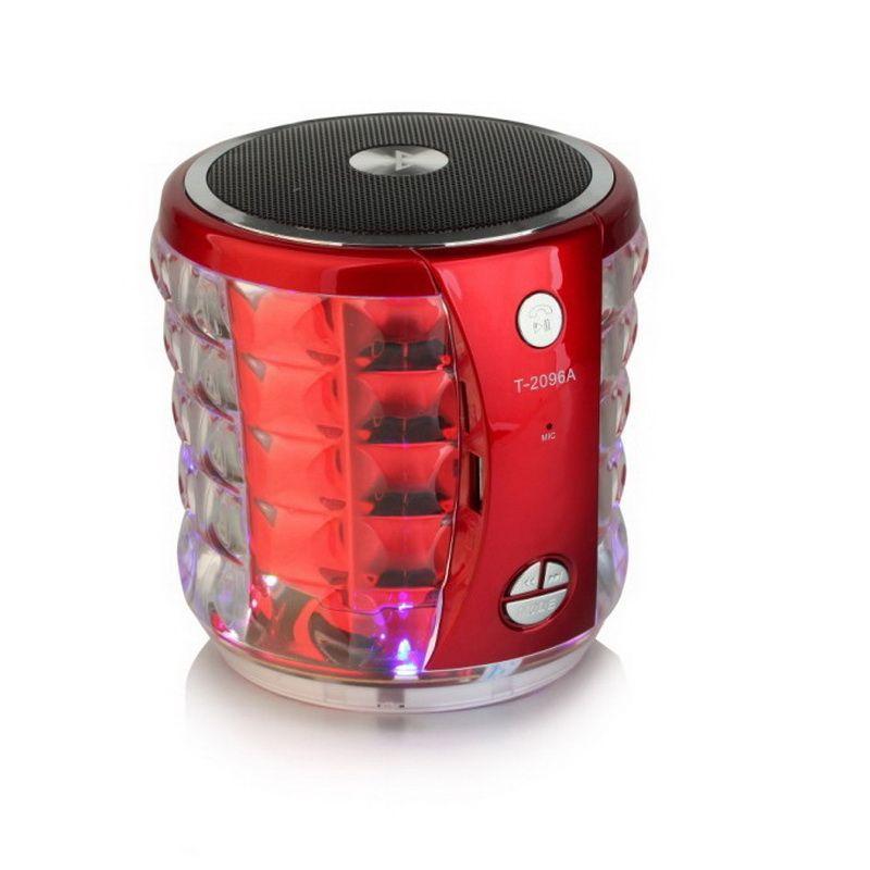 Altoparlanti portatili Bluetooth T-2096A con LED Crystal Flash USB TF USB Lettore musicale Stereo Hi-Fi Mini Sound Box vivavoce auto chiamata