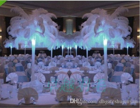 Natural White Ostrich Feathers Plume Centerpiece For Wedding Party