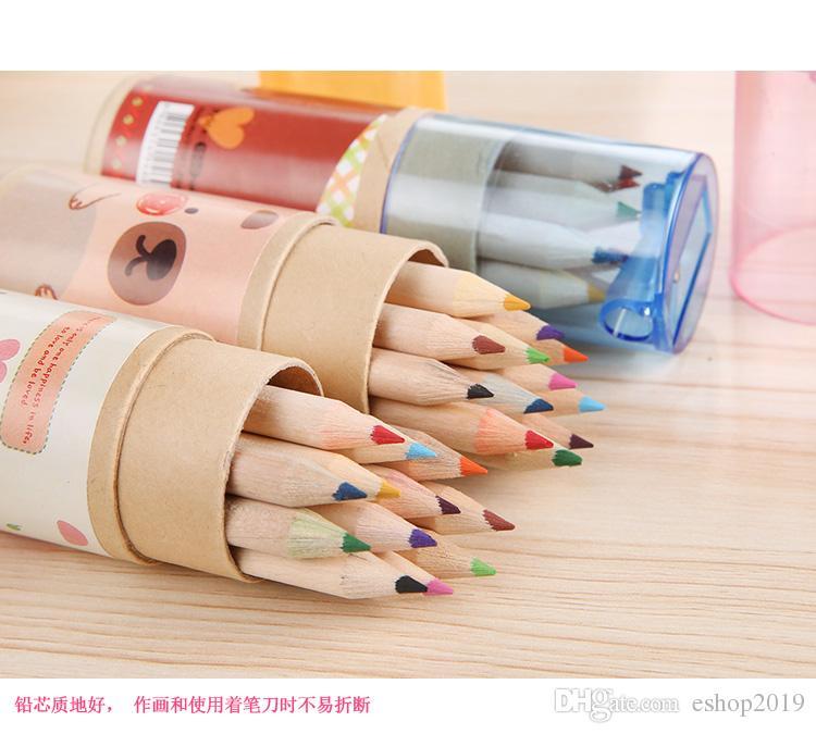 Nuevos lápices calientes Colors Lápiz Regalo de Navidad / Regalo Suministros escolares Regalo para niños Pintura Envío gratis
