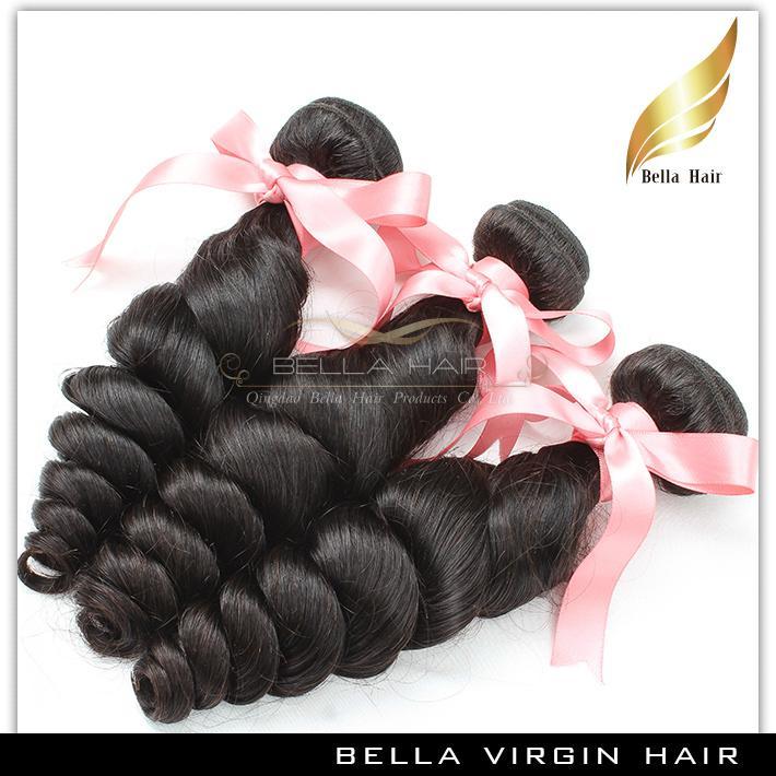 Peruwiańskie Remy Włosy Dziewiczy Ludzki Włosy Tkactwo Luźne Wave Włosy Splot 10-24 Cal Klasa 9A 3 sztuk Natural Color Darmowa Wysyłka