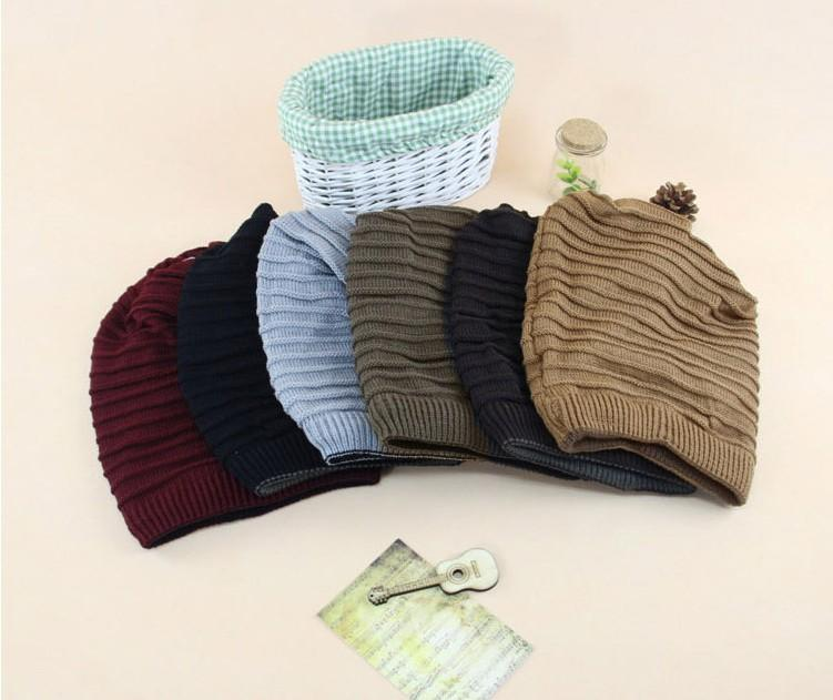 50pcs wholesale High Quality Woolen Knitted Hat Korean Unisex Knitted Caps Beanies Winter Warm Hat Both uses multifunction scarves hats