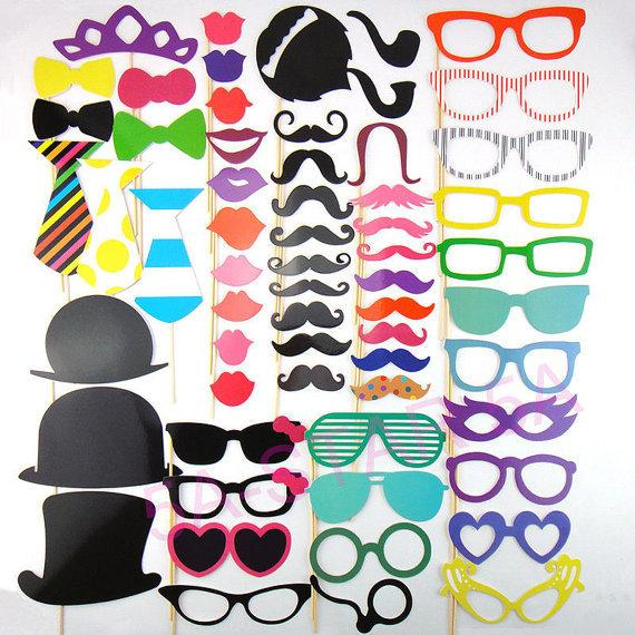 photo booth diy photo props decoration wedding props just married party christmas supplies mask. Black Bedroom Furniture Sets. Home Design Ideas