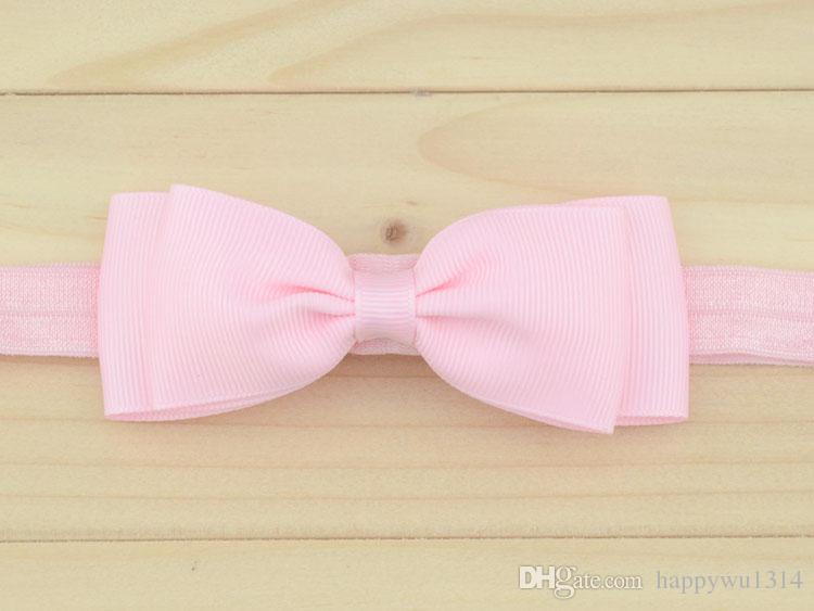 "4""Boutique Bows Hair Accessories Baby Girl Headbands Double Ribbon Bowknot Elastic Hair Bands Fashion Babies Headwear Childrens Headdress"