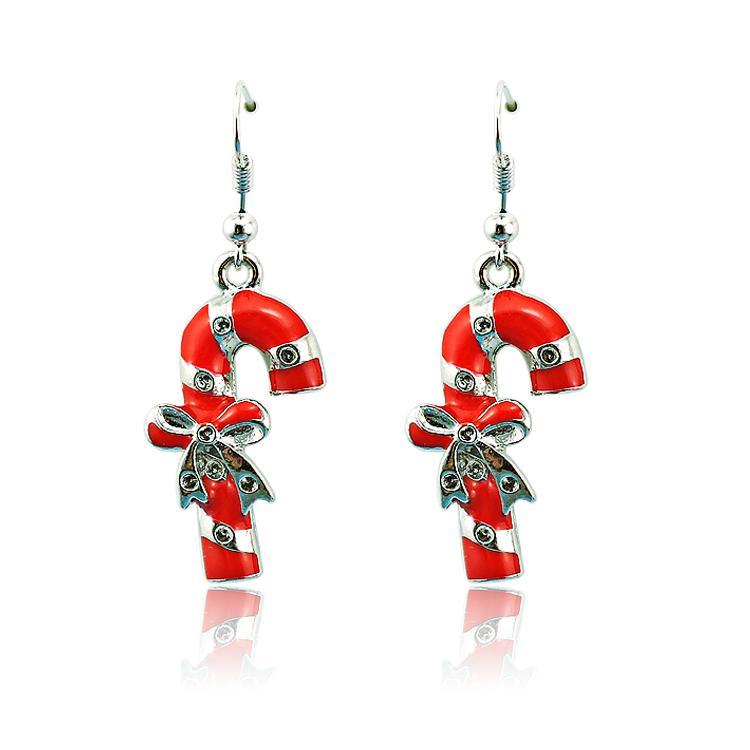 Yeni Varış Charms Küpe Moda Gümüş Kaplama Dangle Alaşım Kadınlar Için Crutch Küpe Noel Dekorasyon Takı